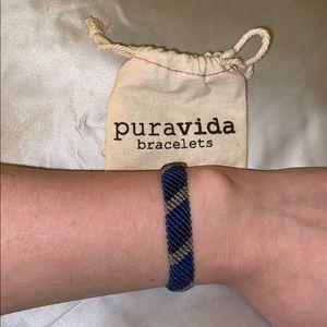 New Blue and Gray Thick Braided Pura Vida Bracelet